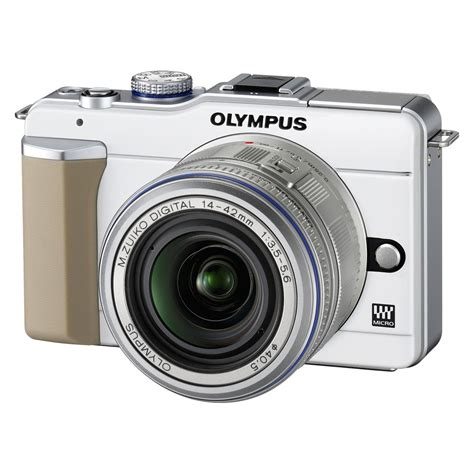 mp olympus olympus e pl1 blanc objectif 14 42mm argent appareil