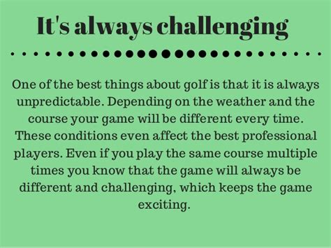 Pdf Why You Golf Recreational by Why You Should Play Golf