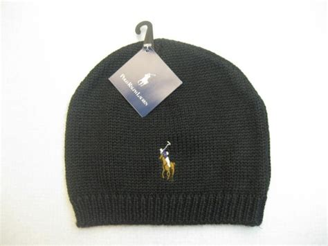 Snapback Beanie Polos White by Polo Ralph Big Pony Knit Beanie Hats Models