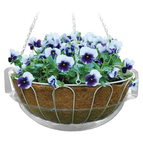plant trays hanging basket drip pans border concepts
