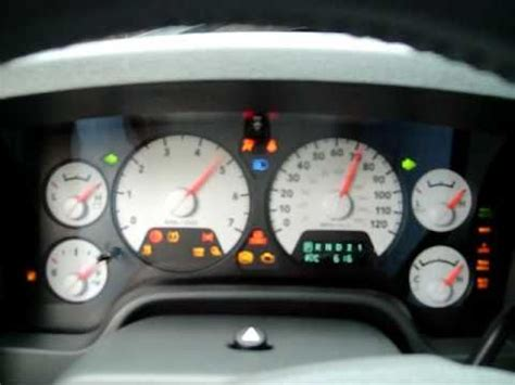 check gages light dodge ram running a gauge check on a 2008 dodge ram 1500 hemi youtube