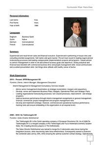 German Language Specialist Sle Resume by Germany Cv Template