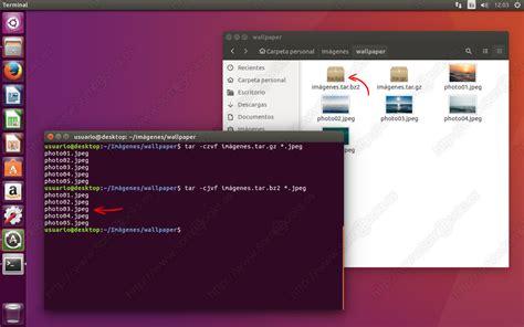 ubuntu tutorial tar comprimir archivos en ubuntu con el comando tar somebooks es