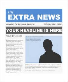 Front Page Templates sle newspaper front page 5 documents in word pdf psd