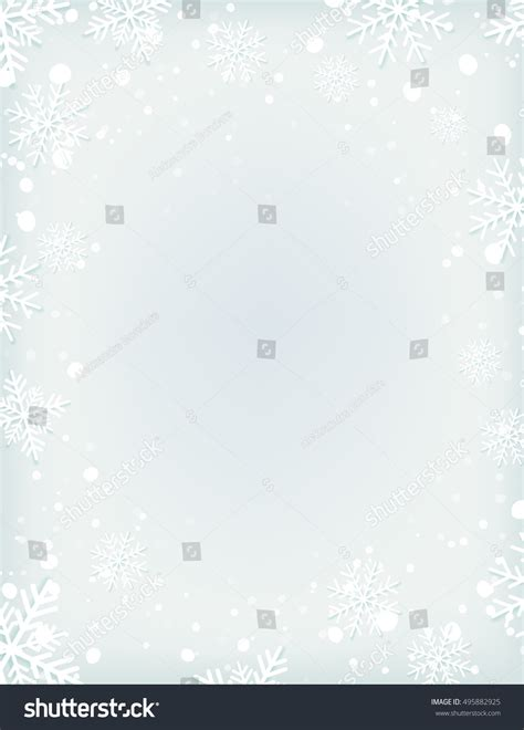 blank snowflake template blank winter background snow snowflakes brochure stock vector 495882925