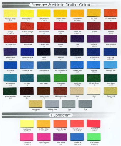 color standards standard colors