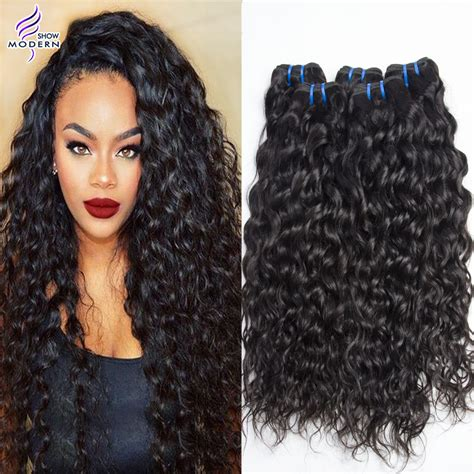 wet and wavy human hair weave hairstyles mink ali moda brazilian virgin hair water wave unprocessed