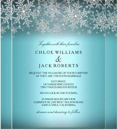 winter templates 15 winter wedding invitation templates free sle