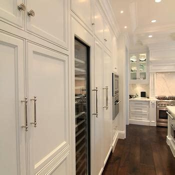 floor to ceiling glass cabinets traditional kitchen wide plank hardwood floors design ideas