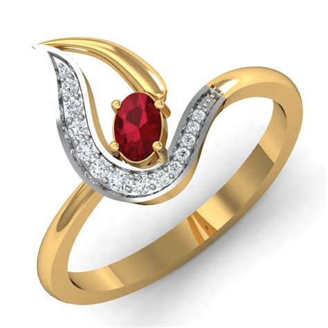 design home earn diamonds ruby ring design 0 25 ct real certified diamond gold weekend