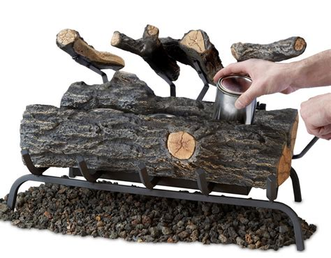 Ambella Fireplace by 24 Convert To Gel Log Set Birch Finish