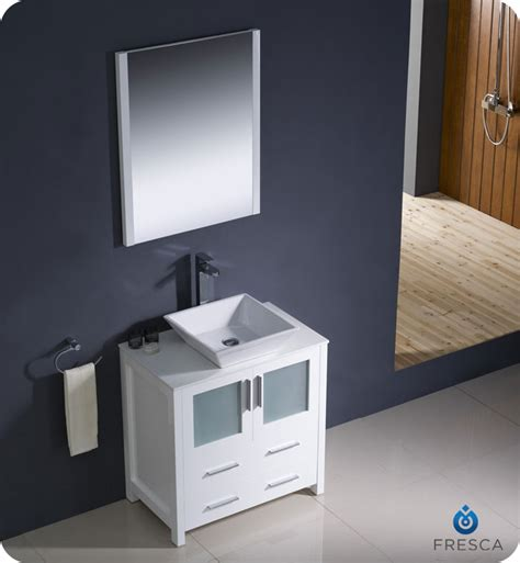 Single Bathroom Vanity With Vessel Sink by 30 Quot To 54 Quot Torino Single Vessel Sink Vanity White