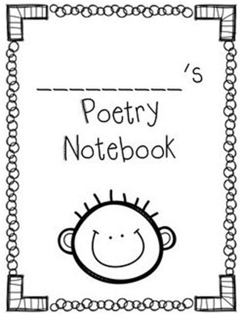 printable poetry book template cute poetry notebook covers boy girl versions free