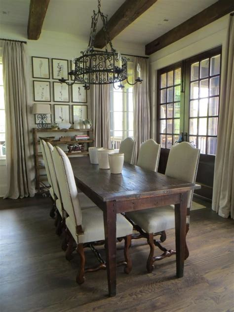 antique dining room setting   french farm table