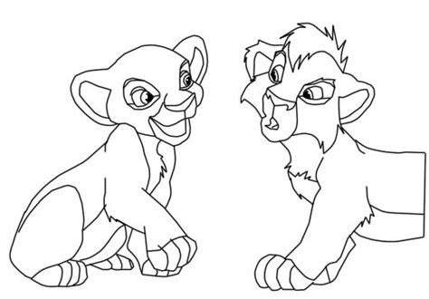 lion king kiara coloring pages kovu and kiara coloring pages coloring pages