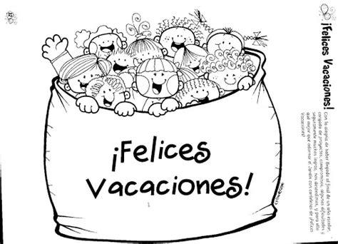 imagenes para pintar vacaciones invierno dibujos de felices vacaciones para imprimir y colorear