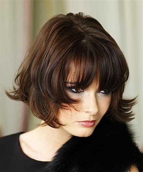 chin length layered bob with side bangs 20 best bob hairstyles with fringe bob hairstyles 2017