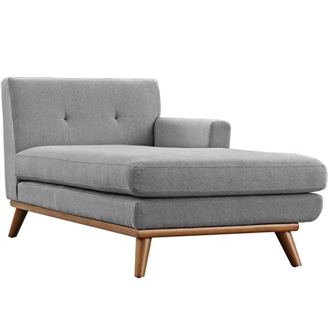 button tufted chaise engage modern button tufted upholstered right arm chaise