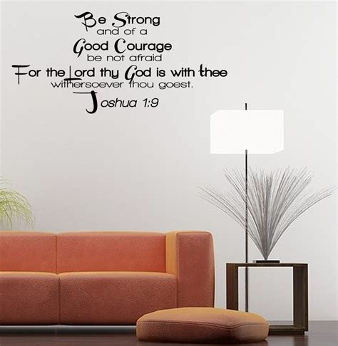ebay wall stickers quotes be strong vinyl wall quote inspirational decal sticker god bible christian