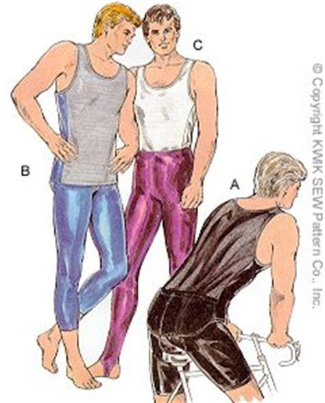 Sewing Pattern Mens Leggings | kwik sew 1727 men s tank top tights bicyc