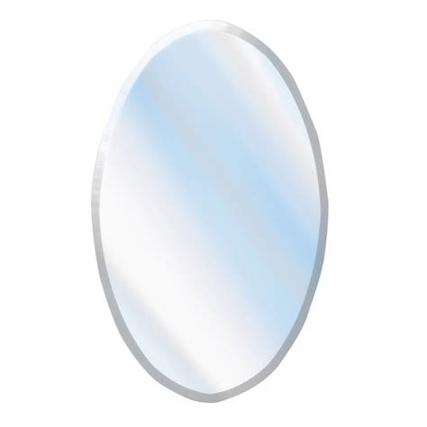 Oval Mirror Bathroom by Shop American Pride 37 In H X 24 In W Oval Frameless Bathroom Mirror With Zinc Hardware And