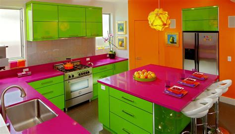 bright kitchen colors adding colour to the kitchen