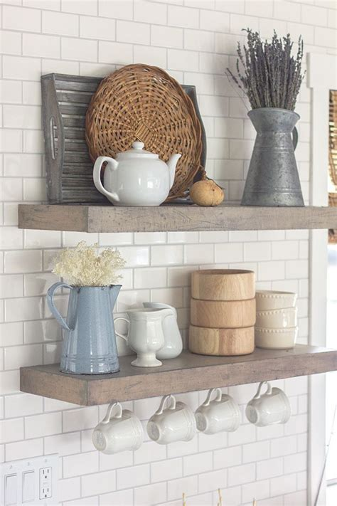 how to decorate kitchen shelves best 25 floating shelves kitchen ideas on pinterest