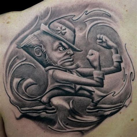 notre dame tattoo designs best 25 leprechaun tattoos ideas on