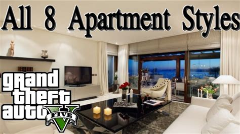 apartment styles gta 5 online all 8 apartment styles quick showcase