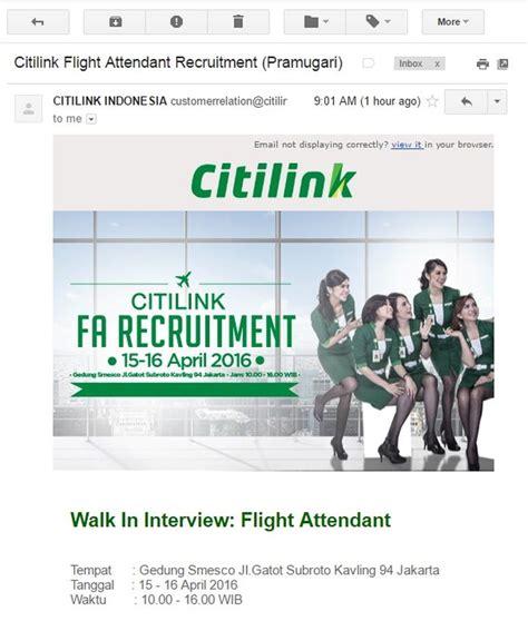 citilink flight attendant recruitment 2017 lowongan kerja pramugari april 2016 gadoga com