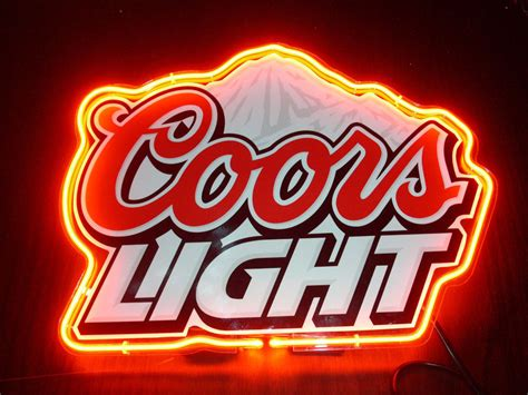 coors light bar sign new coors light logo beer bar pub store garage display