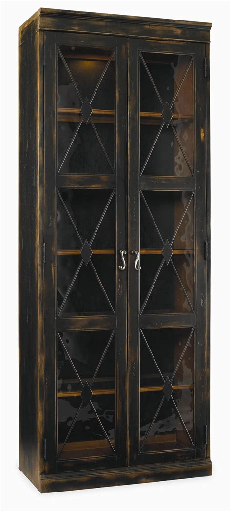 thin cabinet with doors hooker furniture sanctuary two door thin display cabinet