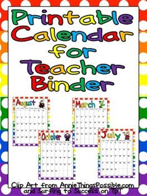 printable calendar resources 2u 17 best images about teacher binder organization on