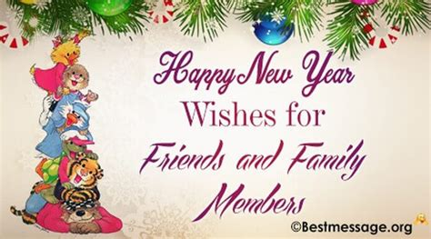 happy new year greetings to family and friends happy new