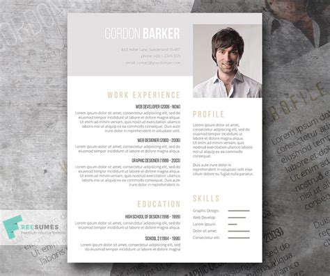 Resume Portfolio Template by Pay What You Want Resume Template Smart Portfolio