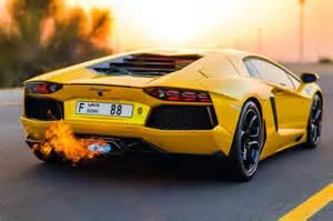 Lamborghini With Flames Lambo Aventador Flames Madwhips