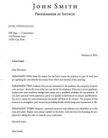 Cover Letter Fomat by Cover Letter Format