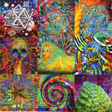 9 Drawings On Acid by Spice Of X9 Blotter Psychedelic Perforated