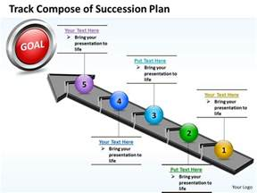 business powerpoint templates track compose of succession