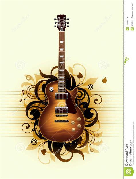samenvatting met mooie gitaar vector illustratie