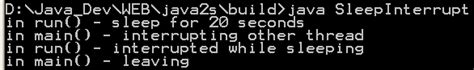java pattern interrupt thread sleep and interrupt thread status 171 threads 171 java