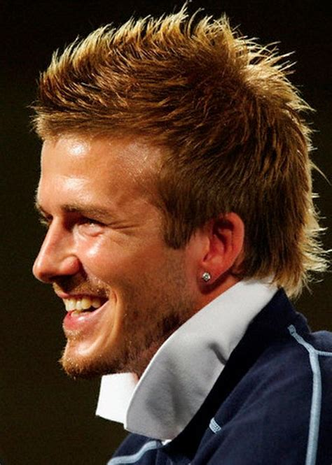haircuts for guys with earrings david beckham hairstyle hairstyles weekly