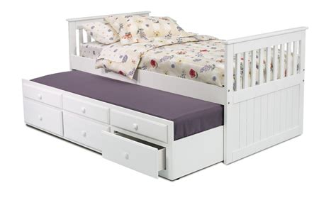 twin bed with drawers mission bed with twin trundle and 3 drawers