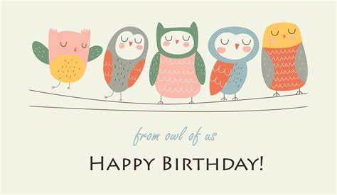 Email Birthday Cards Free Happy Birthday From Owl Of Us Ecard Email Free