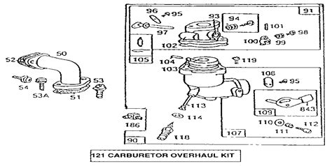 Carburetor Overhaul Kit Diagram Amp Parts List For Model
