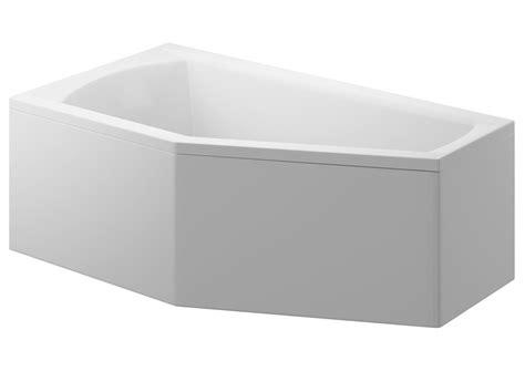 Acrylic 1 Cm acrylic housing for corner asymmetrical bathtub 160 x 90 cm universal selena polimat