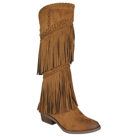 not boots not s g funk fringe western boot shoes