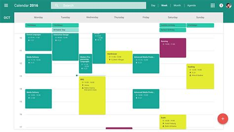 material design calendar jquery redesign of google s web calendar material design on behance