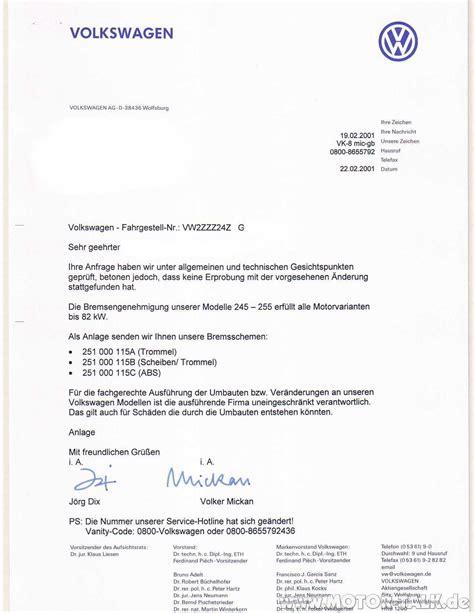 Anschreiben Initiativbewerbung Volkswagen Anschreiben Motorumbau T 220 V Eintragung Vw T1 T2 T3 205950943