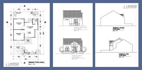 kumpulan gambar denah dan tak berbagai macam tipe rumah rumah garis